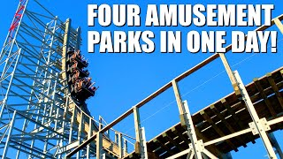 We Went to Four Amusement Parks in One Day - Texas Trip Day 1