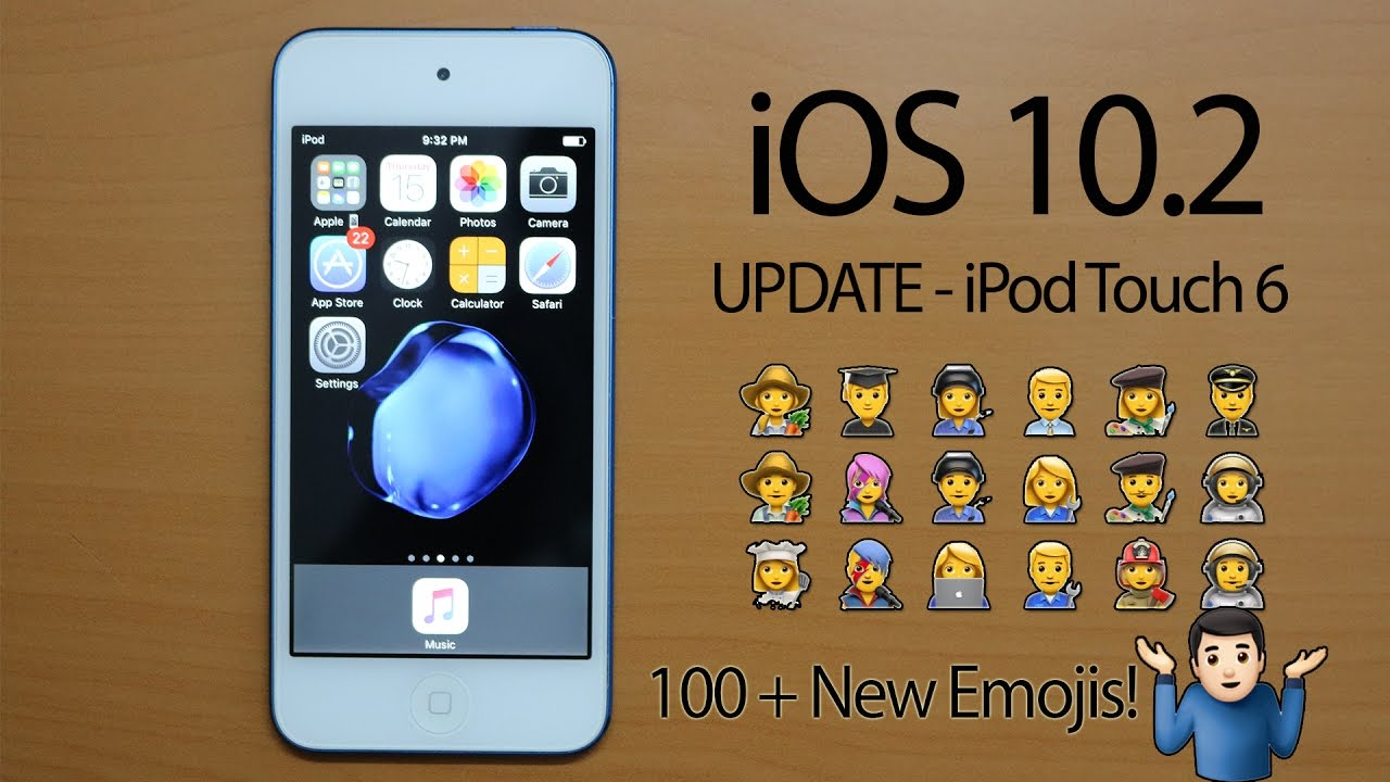 update ipod touch to ios 10