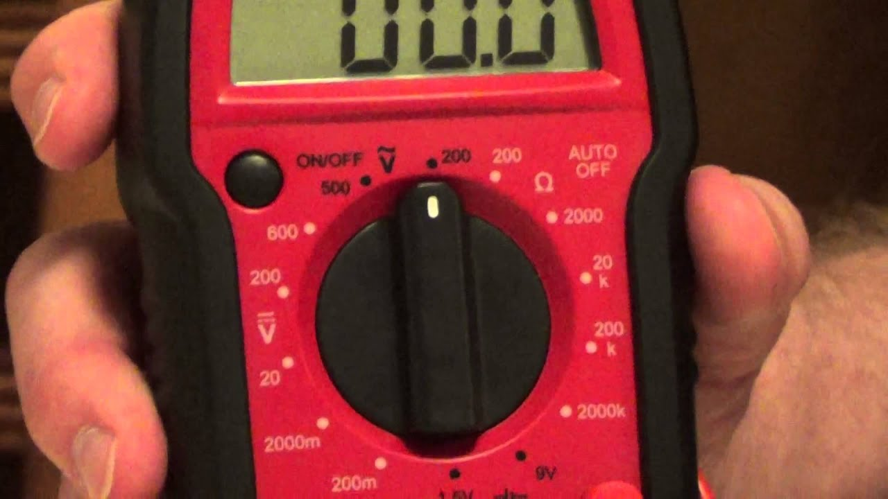 How To Read A Digital Multimeter How To Use A Digital Multimeter