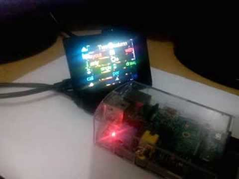 Raspberry pi with Usb LCD sysinfo ver 1.07