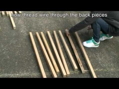 How to make a folding Kentucky stickchair