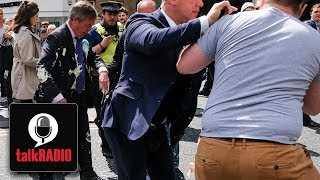 "Nigel Farage ""When it's me hit with a milkshake no-one cares"""