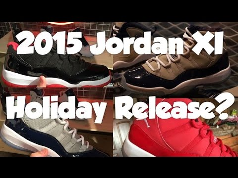 air jordan xi collection 2015 holiday release rumors thoughts predictions youtube