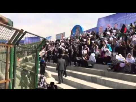 Afghan presidential election 2014: Kabul women rally