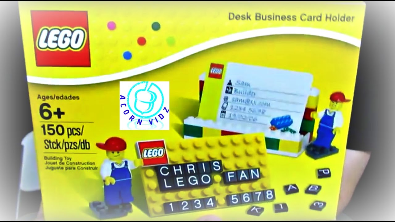 Lego Desk Business Card Holder - YouTube