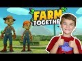 STARTING A FARM WITH MY DAD in FARM TOGETHER (MULTIPLAYER GAMEPLAY)