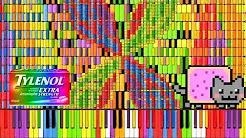 "[Black MIDI] Synthesia – ""Nyan Trololol"" | Rainbow Tylenol & Nyan Cat Remix ~ BusiedGem"