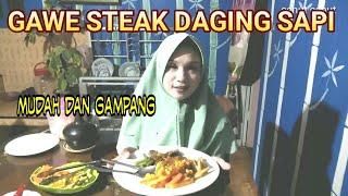 Masak steak daging  buat keluarga Cenut