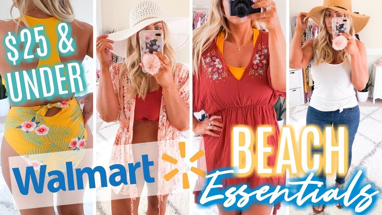c358aabba WALMART TRY-ON Haul | Beach Essentials