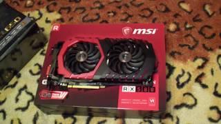 Комплектующие для фермы на 4-х MSI Radeon RX580 Gaming X 4Gb