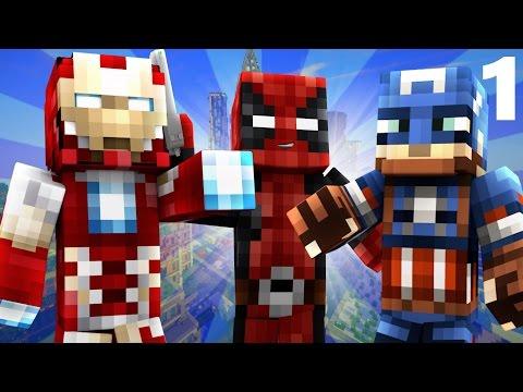 Deadpool #1: CAPTAIN AMERICA CIVIL WAR! Part 1 (Minecraft Roleplay)