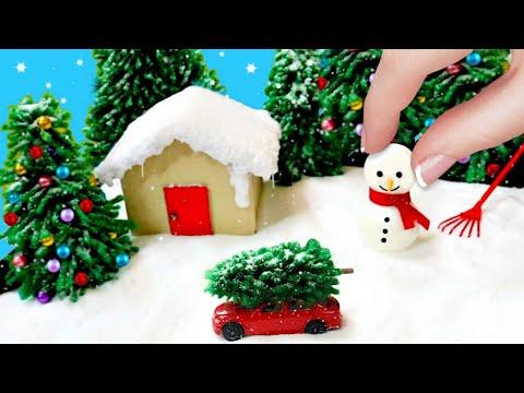 DIY MINIATURE WINTER WONDERLAND ZEN GARDEN | CHRISTMAS DECORATIONS & GIFTS
