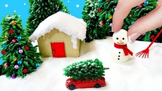 DIY MINIATURE WINTER WONDERLAND ZEN GARDEN | Stress Reliever Christmas Gifts & Decorations