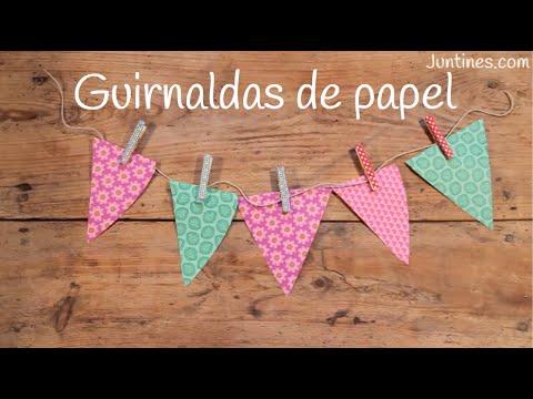 Guirnalda de papel fácil para colgar y decorar fiestas