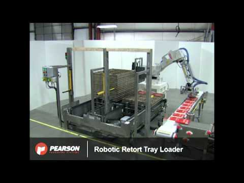 Retort Tray Packaging System with Robotic Tray Loading – Pearson Packaging Systems