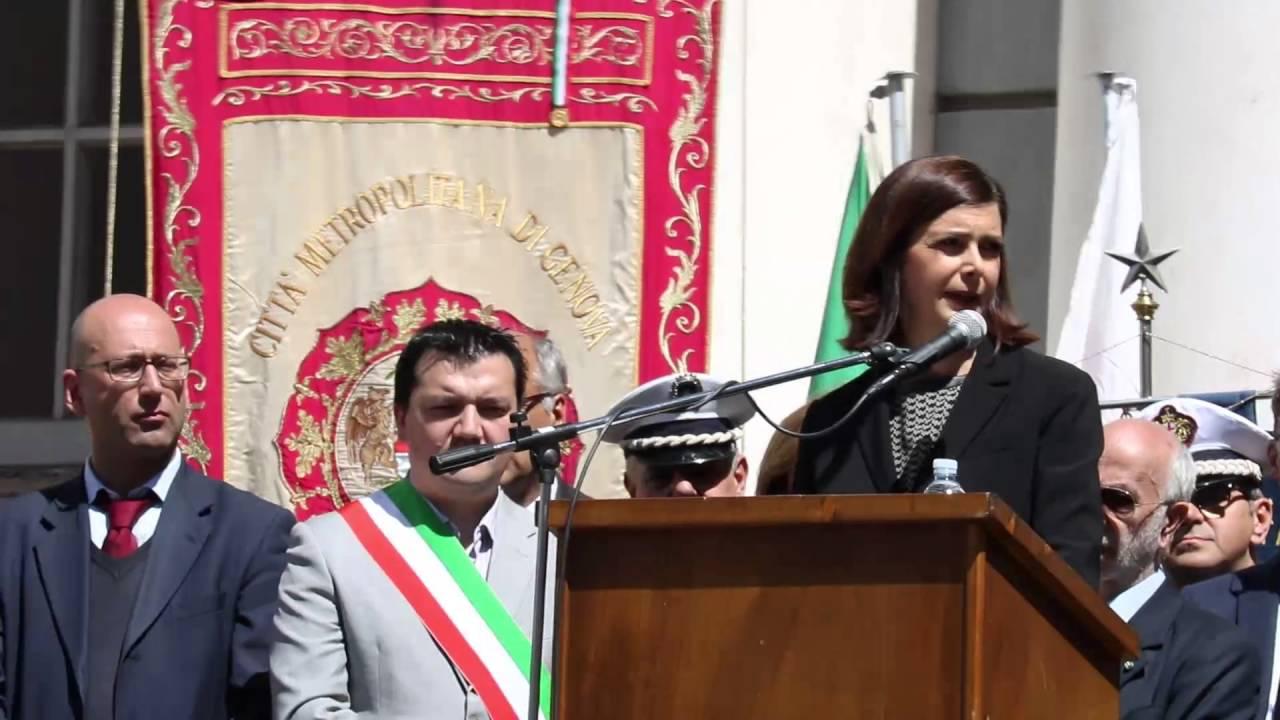 Discorso Camera Boldrini : Laura boldrini discorso 25 aprile 2016 youtube