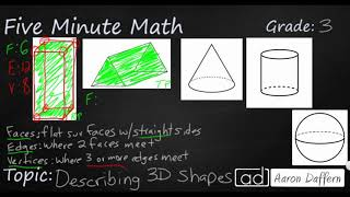 3rd Grade Math Describing 3D Shapes