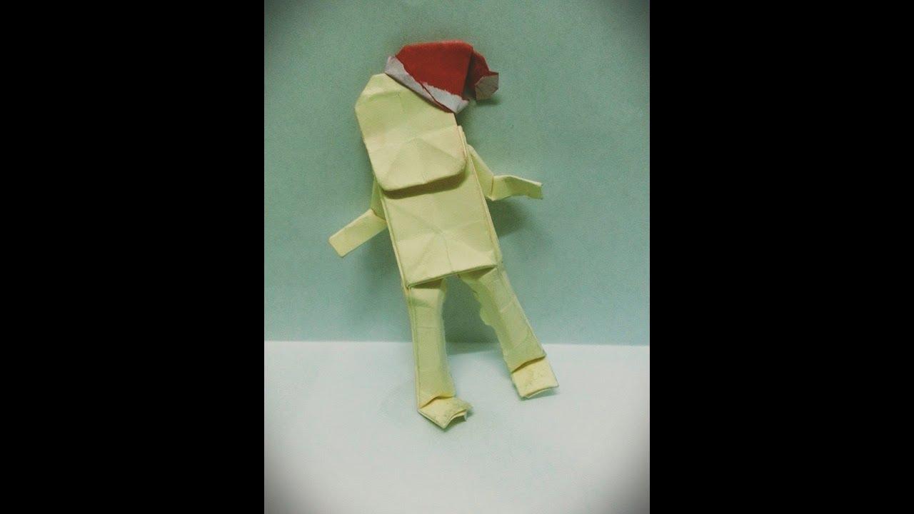 origami human idea for christmas youtube
