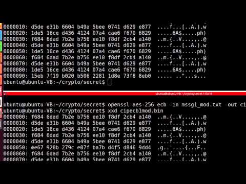 Secret Key Cryptography - AES using OpenSSL