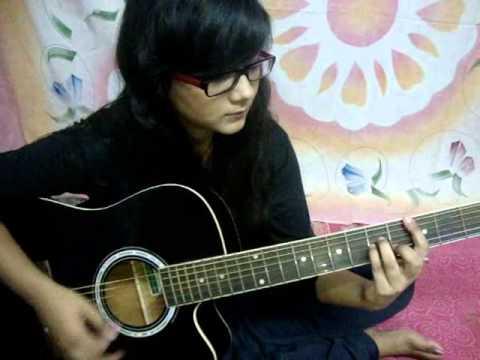 SUN RAHA HAI guitar tutorial with intro, stumming and lead.