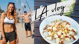 DAY IN THE LIFE IN LA   MEETING VEGAN YOUTUBERS, EPIC VEGAN FOOD   LA vlog