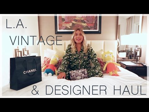 L.A. Vintage & Designer Haul | Conscience Coupable