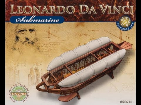 elenco davinci submarine model kit review youtube. Black Bedroom Furniture Sets. Home Design Ideas