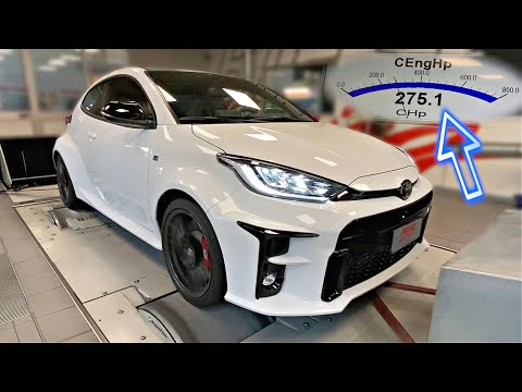2021 Toyota GR Yaris ON THE DYNO | Fully Stock GR Yaris Dyno Results Show Big Horsepower Numbers!