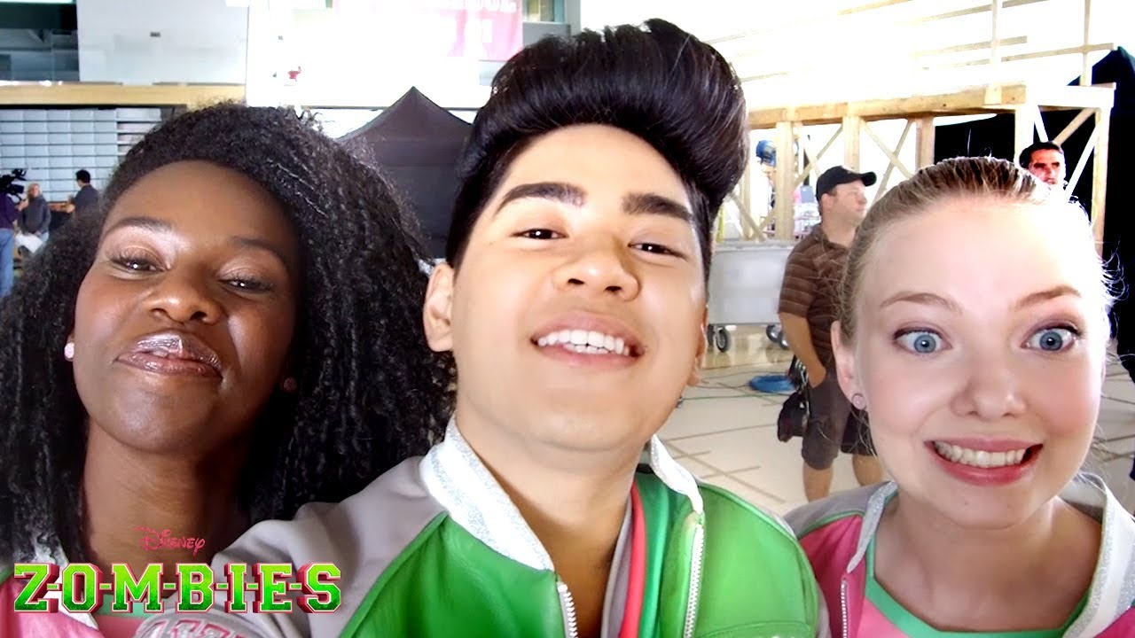 Behind The Scenes Acey Cam Zombies Disney Channel Youtube