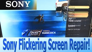 How to Repair Flickering or Ghosting Picture on Sony LCD TV KDL-46 46