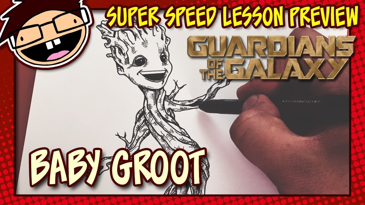 Lesson Preview How To Draw Baby Groot Guardians Of The Galaxy