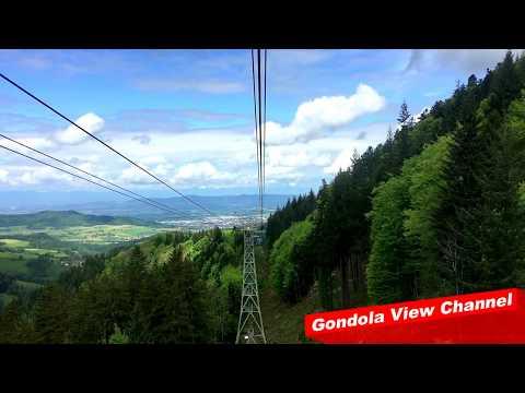 Gondola view of a vast chain of hills in Germany - Schauinslandbahn (HD)