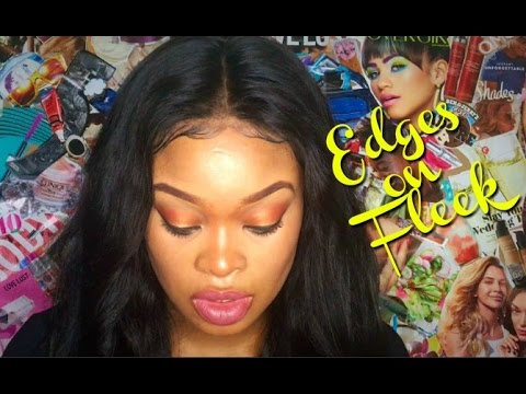 How To Apply Your Lace Frontal | Including how to lay your baby hair/edges