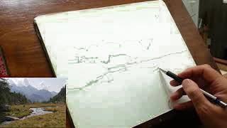 Paesaggio Montano Da Disegnare Ostia