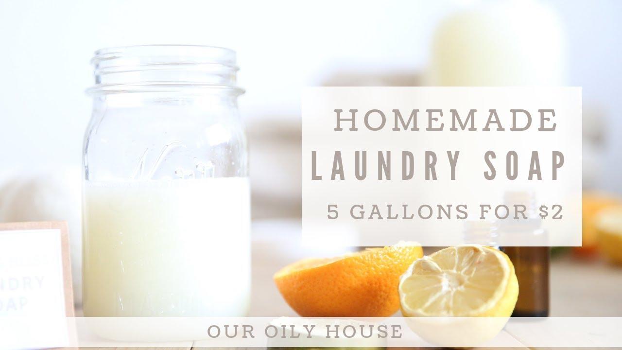 Homemade Laundry Soap using Essential