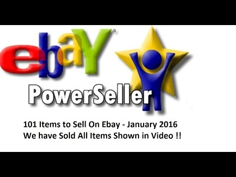 101 Items To Sell On Ebay - January 2016 - Thrift Shops Garage Sales Flea Market Finds