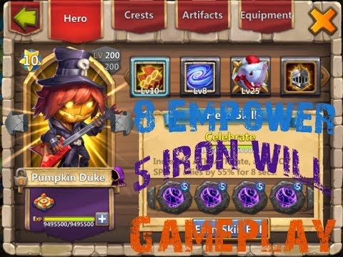 8 | Empower | 5 | Iron Will | Pumpkin Duke | Insane 6 | Dungeons | Gameplay | Castle Clash