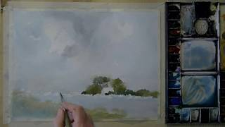 A typical Dutch Landscape on Millford paper