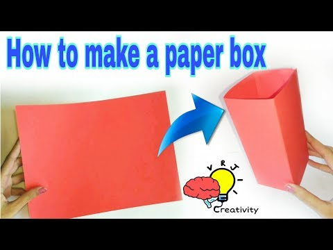 How to make paper box in minuit | DIY Craft tutorial about paper box making art