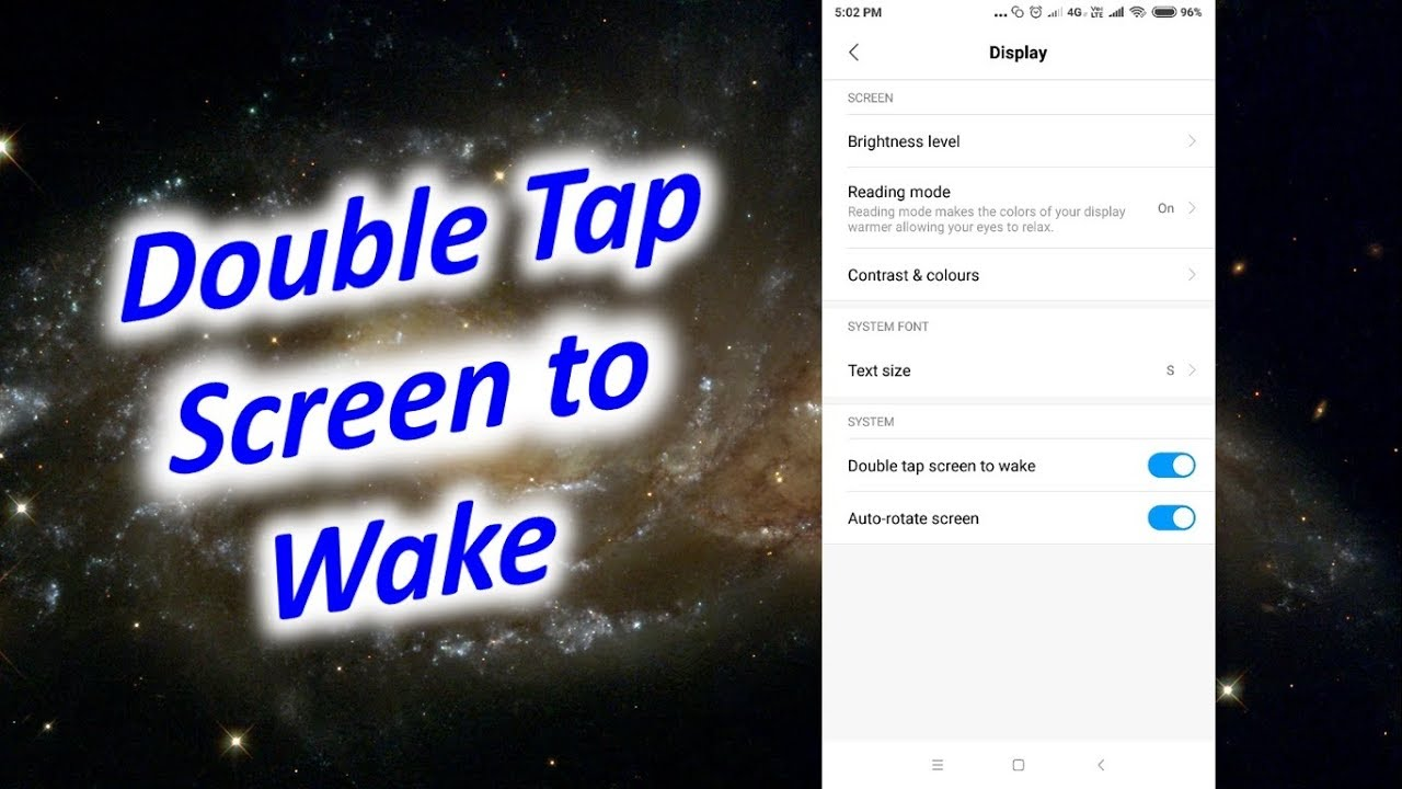 Turn on Double Tap Screen to Wake। Change Screen Timeout in Redmi Note 5