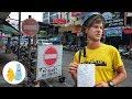 Проезд под кирпич и лишение прав, Сураттхани, Таиланд