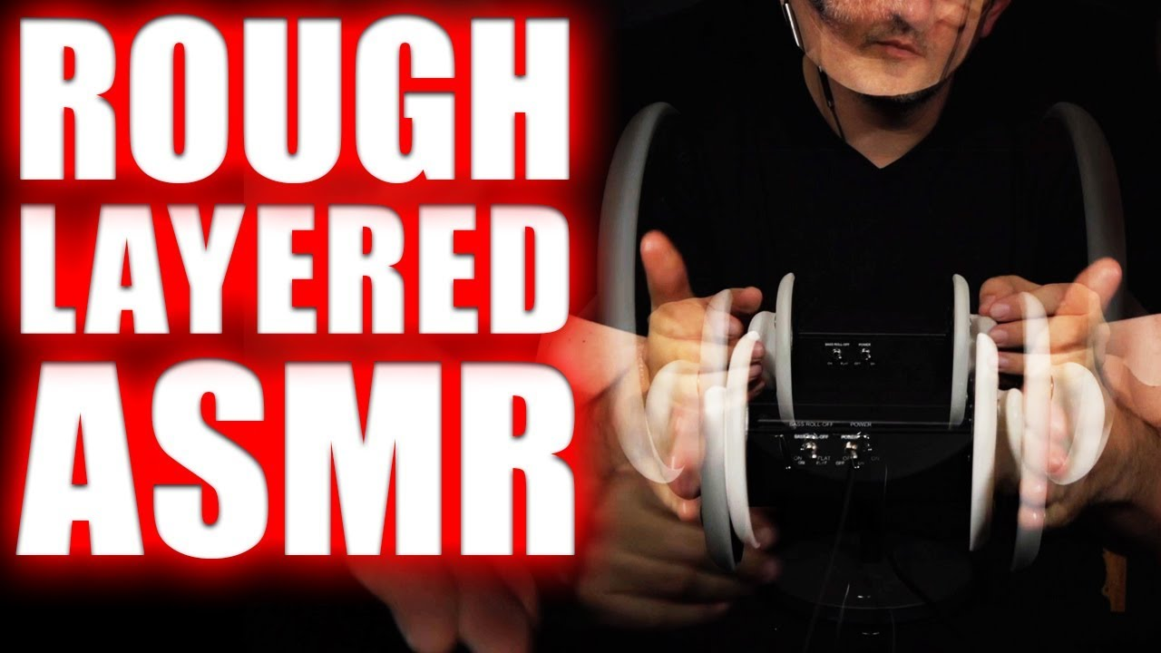 Layered Asmr Rough Ear Tapping Rough Ear Massage No Talking 1 Hour