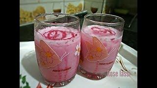 How to make Rose lassi recipe in Hindi ||||Refreshing drink |