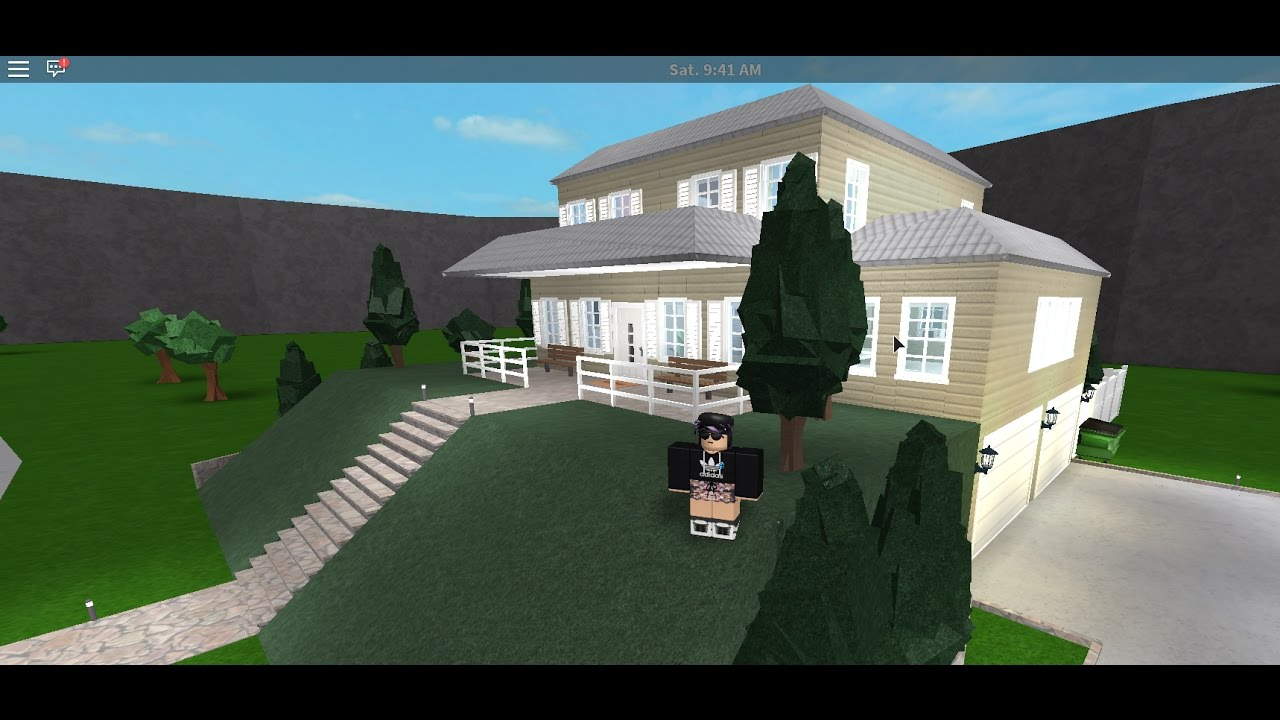 Bloxburg side entry garage house tour youtube for Build a house for 200k