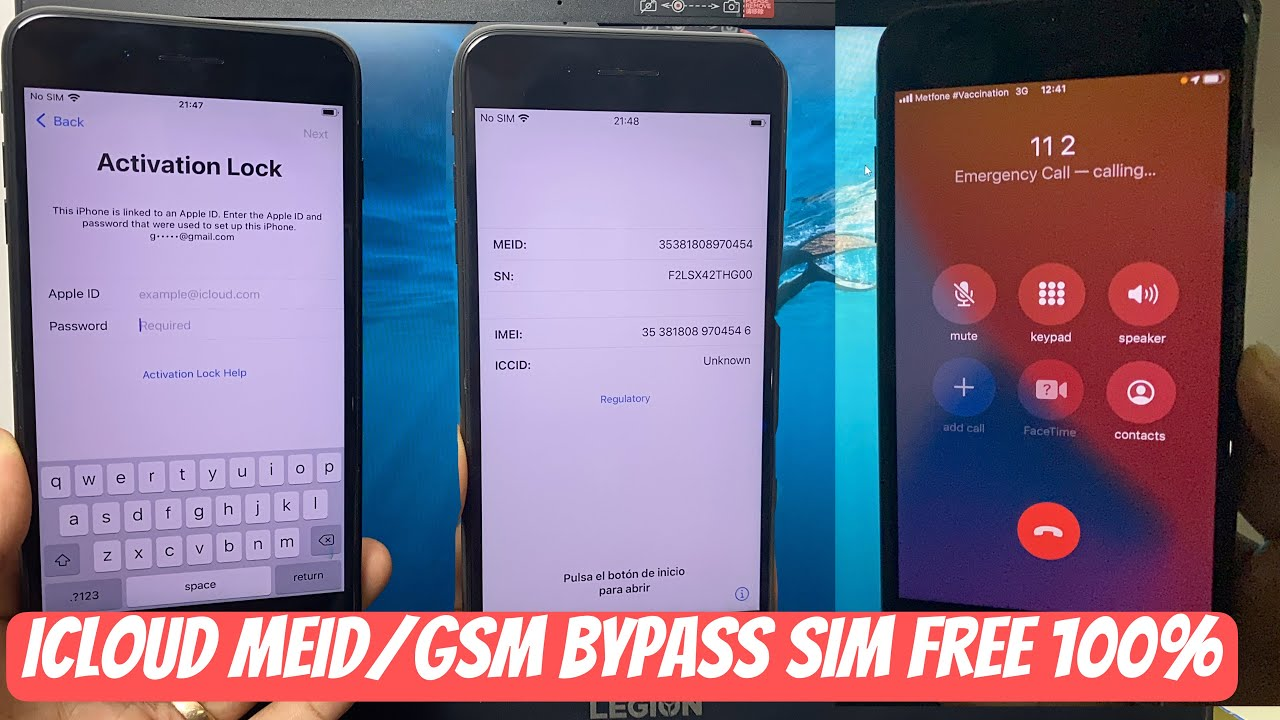 Windows Device iCloud MEID/GSM  Bypass with FREE SIM 1000% Fixed