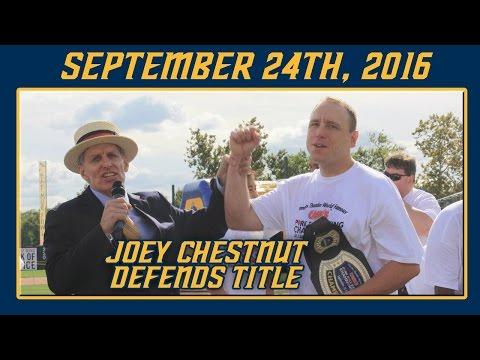 Joey Chestnut returns to Trenton for Pork Roll Eating Championship