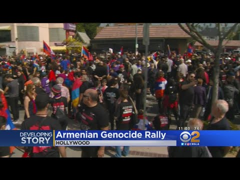 Thousands March In LA To Mark 103rd Anniversary Of Armenian Genocide