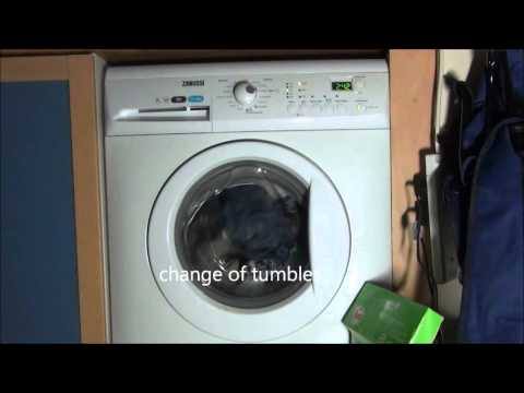 Zanussi Aquafall ZWHB7160 Washing Machine : Cotton Standard eco 40'c (Full cycle)