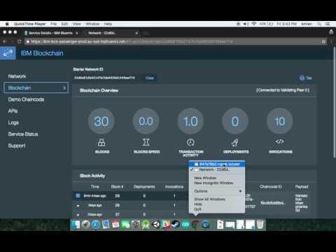 Asset Transfer Demo - Using IBM's Blockchain Service