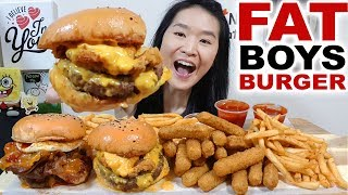 Video THICK & JUICY!! Fat Basterd Beef & Bacon Burgers, Mozzarella Cheese Sticks | Eating Show Mukbang download MP3, 3GP, MP4, WEBM, AVI, FLV Mei 2018
